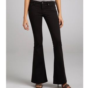 William Rast NWT Ryley Onyx Black Flared Jeans 25